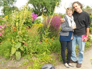 Mollie & Scott in Nolde's garden, summer 2012